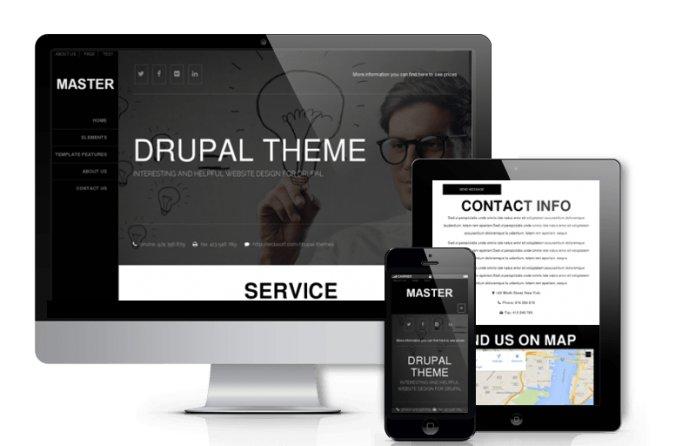 Master - Free Drupal Responsive Theme