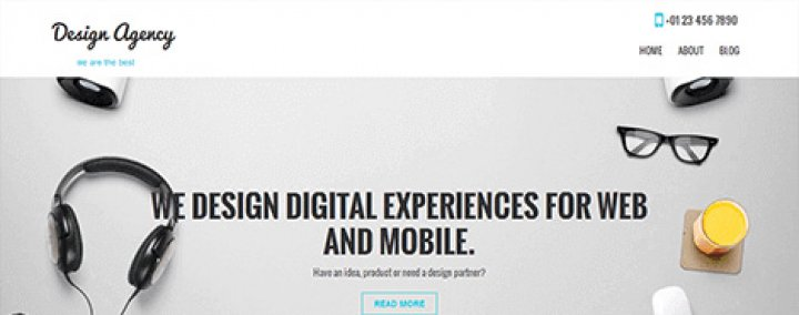 SKT Design Agency wordpress Theme