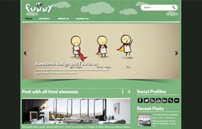 Funny WordPress Theme