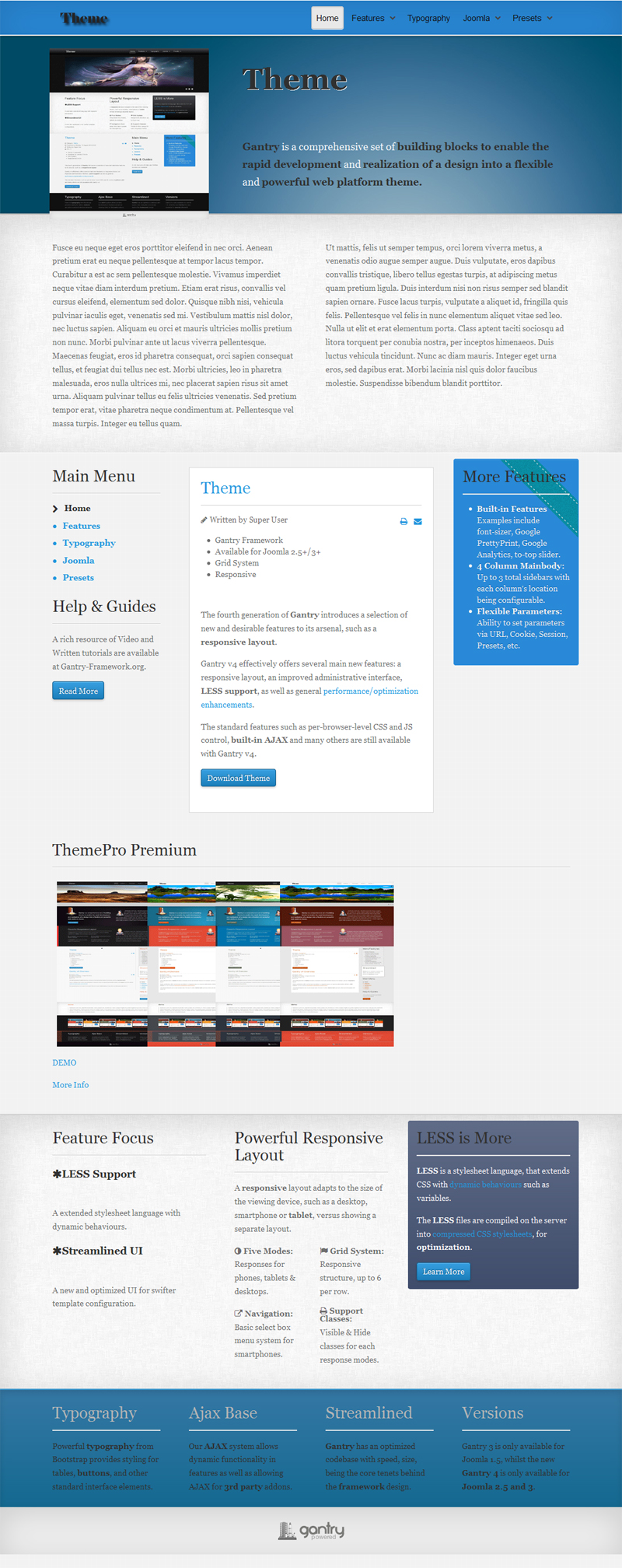 theme free gantry template templates free and