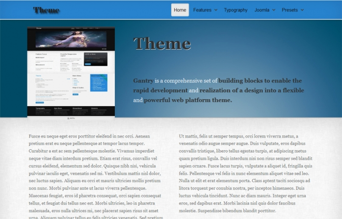 Theme Free Gantry Template