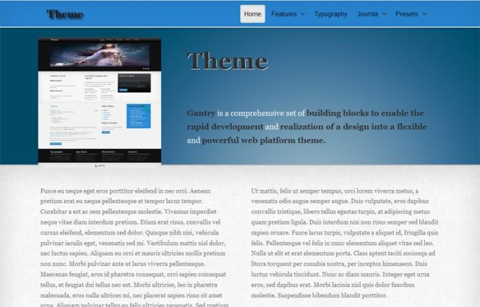 Theme Free Gantry Template