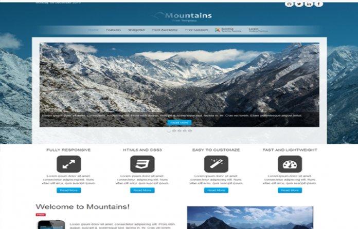 Mountains Free Joomla Responsive Theme!