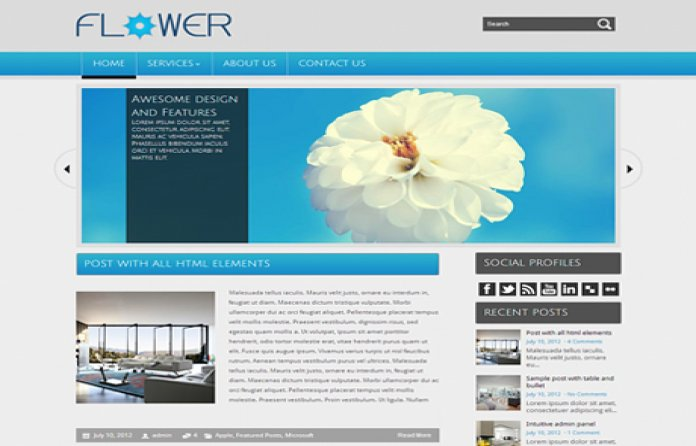 Flower WordPress Theme