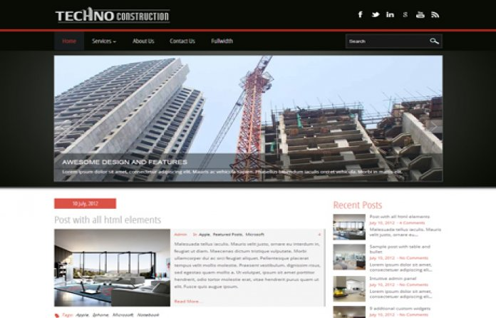 TechnoConstruction WordPress Theme