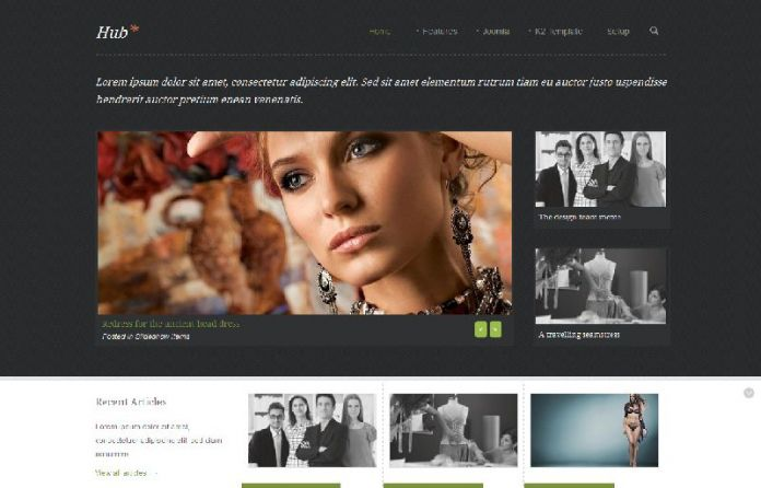 Hub - A Joomla Magazine Template
