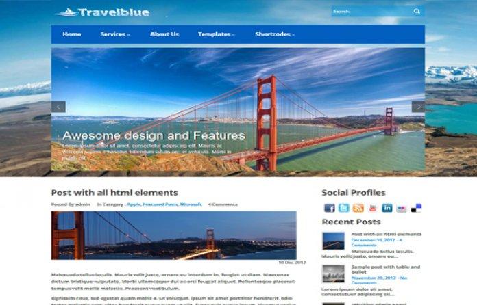 TravelBlue Theme