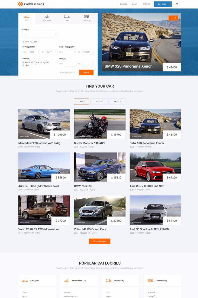 JM Car Classifieds - Templates - cmsgadget.com - Free and Premium ...
