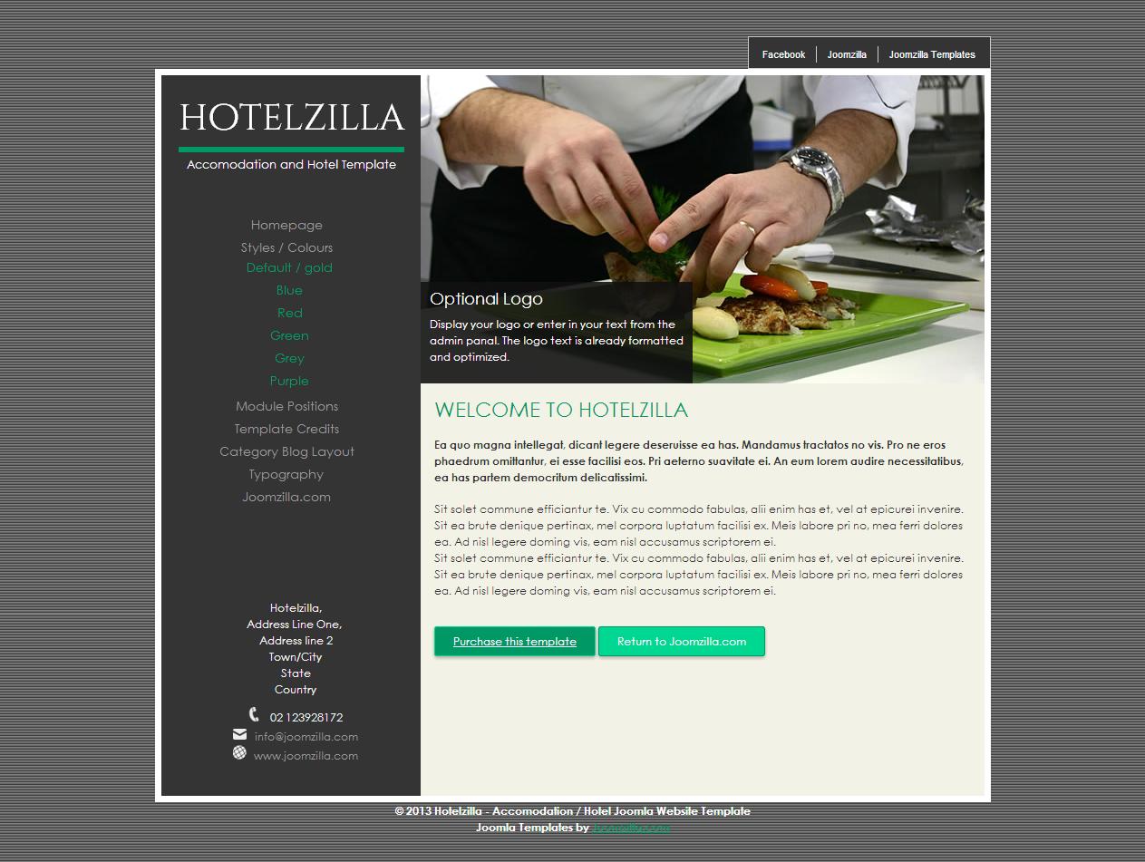 Hotelzilla - Elegant hotel stylish joomla website template ...