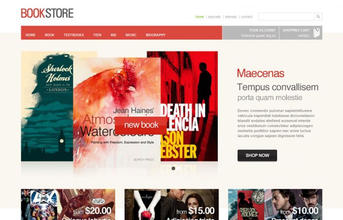 bookstore - templates - cmsgadget - free and premium wordpress, Powerpoint templates