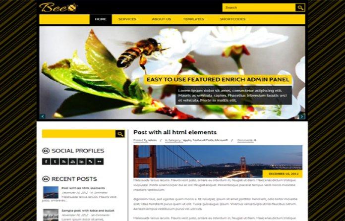 Bee - Portfolio Theme
