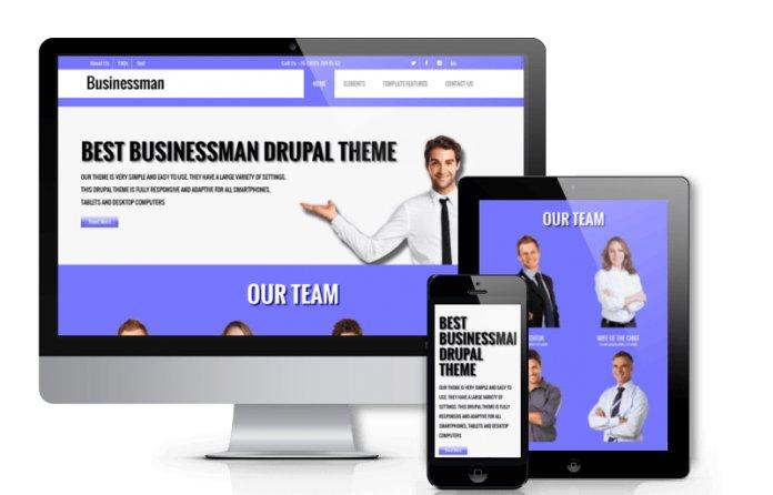 Businessman - Free Corporate  Drupal theme
