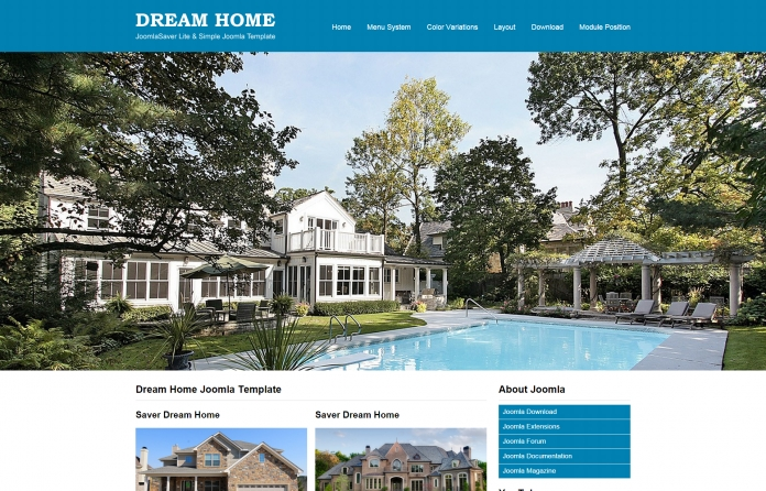JSR Dream Home Joomla Template