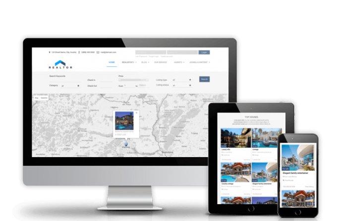 Realtor - Real Estate Joomla template