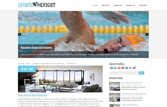 SportsKnight WordPress Theme