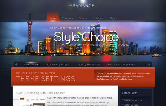 Radiance - Wordpress theme