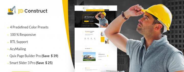 JD Construct - Construction Joomla Template