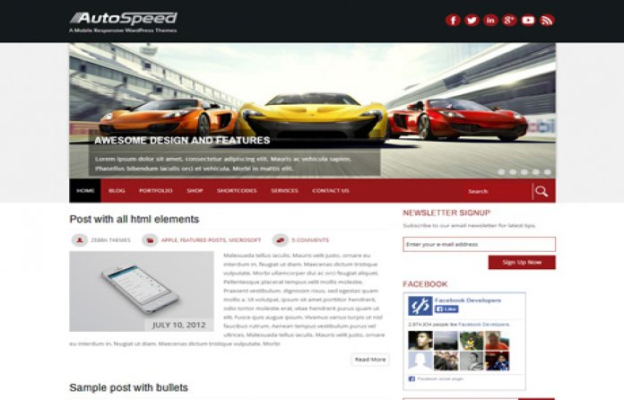 AutoSpeed  Free Auto WordPress Theme
