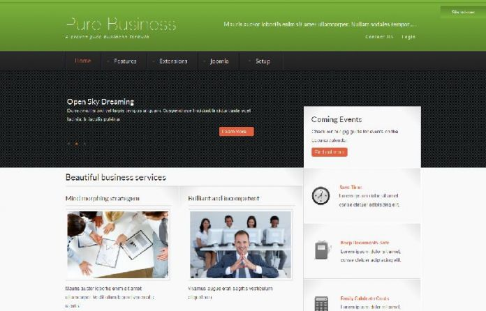Pure - Simple Joomla Business Template