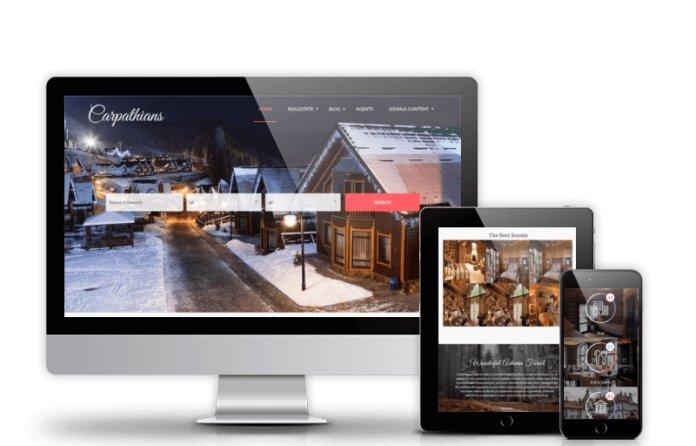 Carpathians - Resort & Hotel Joomla template