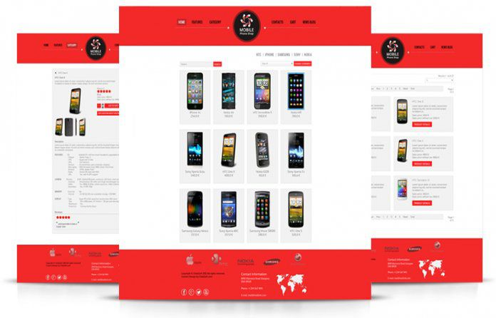 VirtueMart Template Mobile Store