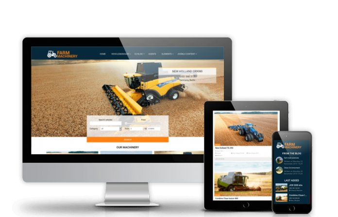 Farm Machinery - Agriculture Joomla Template
