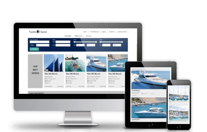Yachts Charter - Yachting Joomla template