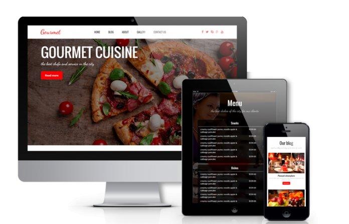 Gourmet - WordPress  Restaurant Theme