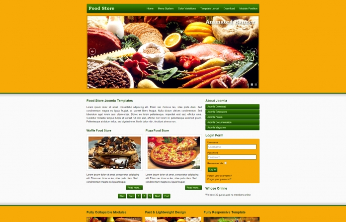 JSR Food Store Joomla Template