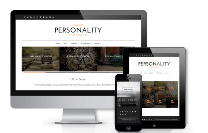 Personality - WordPress Personal Blog Theme