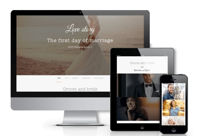 Love Story - Joomla  Wedding Template