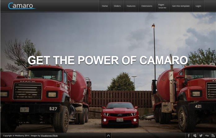 Camaro - Responsive Fullscreen Template