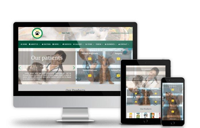 Zoo-Clinic - Veterinary Wordpress Theme