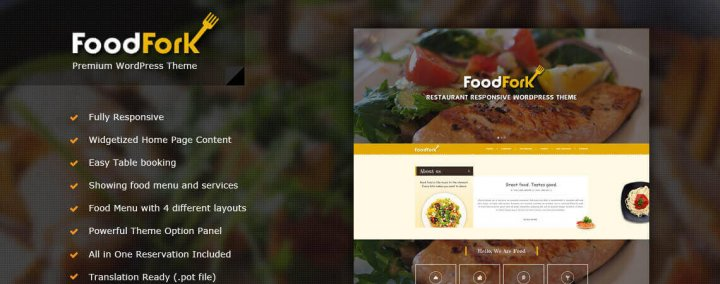 FoodFork Restaurant WordPress Theme