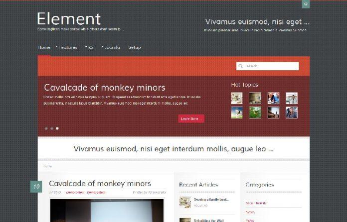 Element - A Colourful Joomla Template