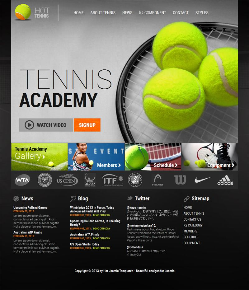 tennis templates free  Hot Tennis - Templates - cmsgadget.com - Free and Premium ...