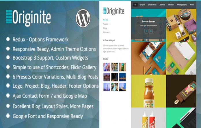 Originite - Portfolio WordPress Theme