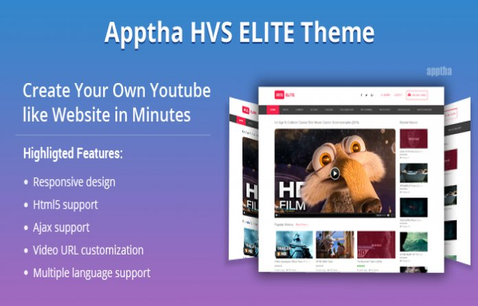 Apptha HVS Elite - Joomla Youtube Video Theme