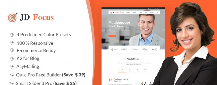 JD Focus Multipurpose Joomla Template