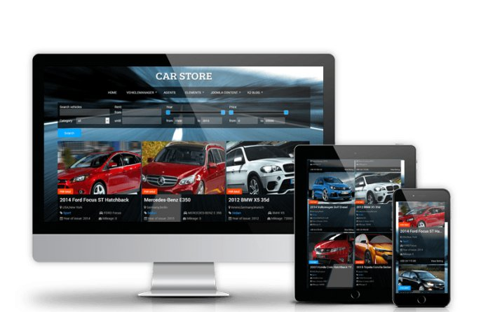 Car Store - Joomla Automotive Template
