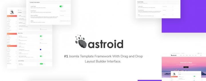 Astroid 2.0 - Advanced Free Joomla Template and Framework