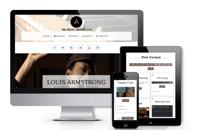 Artist - Personal Blog Wordpress Theme