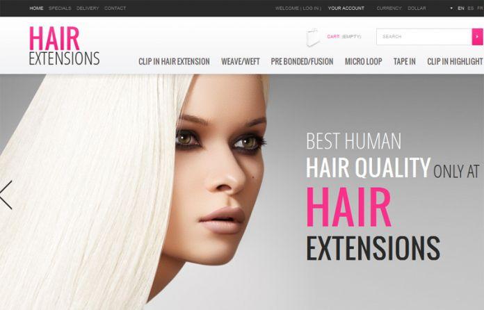 Hair extensions - Templates - cmsgadget.com - Free and Premium ...