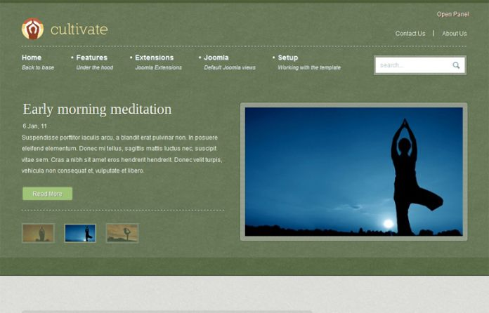 Cultivate - Yoga Joomla Template