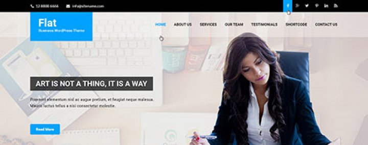 SKT Flat WordPress theme