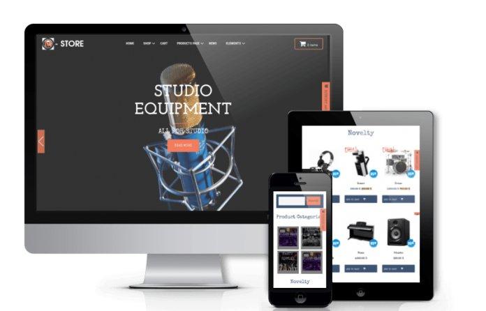 M-Store - Music Store WordPress Theme