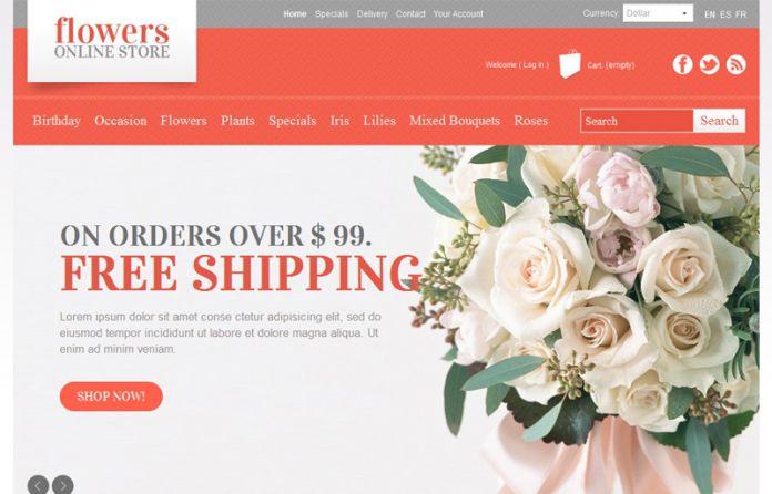 Flowers online store