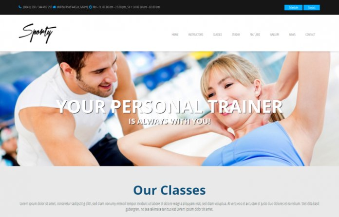 Sporty - Fitness & Gym WordPress Theme