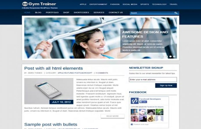 GymTrainer WP Theme