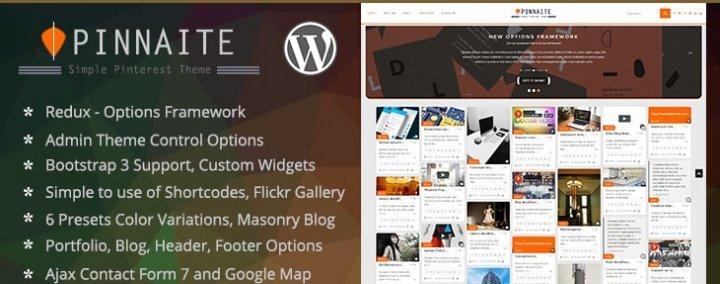 Pinnaite - Responsive Pinterest WordPress Theme